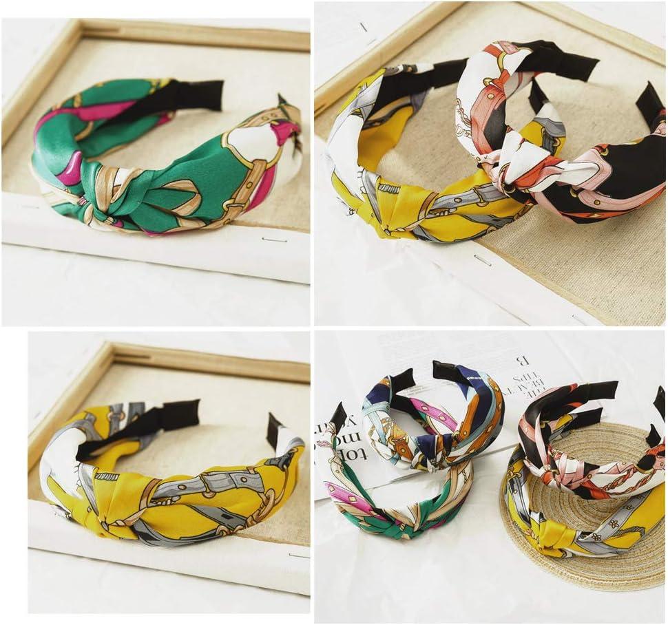 8pz Cerchietti per Capelli Donna Fasce Femminili Vintage Fascia Fermacapelli Turbante della Testa Accessori dei Capelli per Donna Ragazza 8 Colori Assortiti