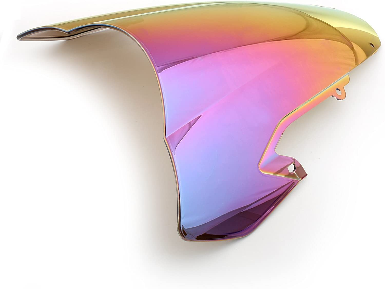 Topteng Pare-brise de moto Sport avec ABS Design a/érodynamique pour Su-zu-ki GSXR 1000 2003-2004 K3
