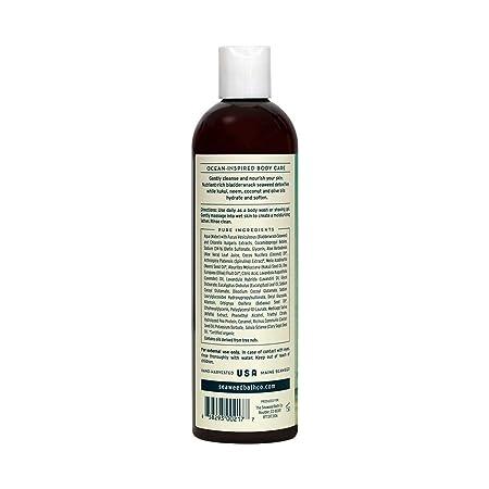 The Seaweed Bath Co Hydrating Body Wash Lavender Nutrient Rich Bladderwrack Seaweed Vegan Paraben Free 12 Fl Oz Bath Products Beauty Amazon Com
