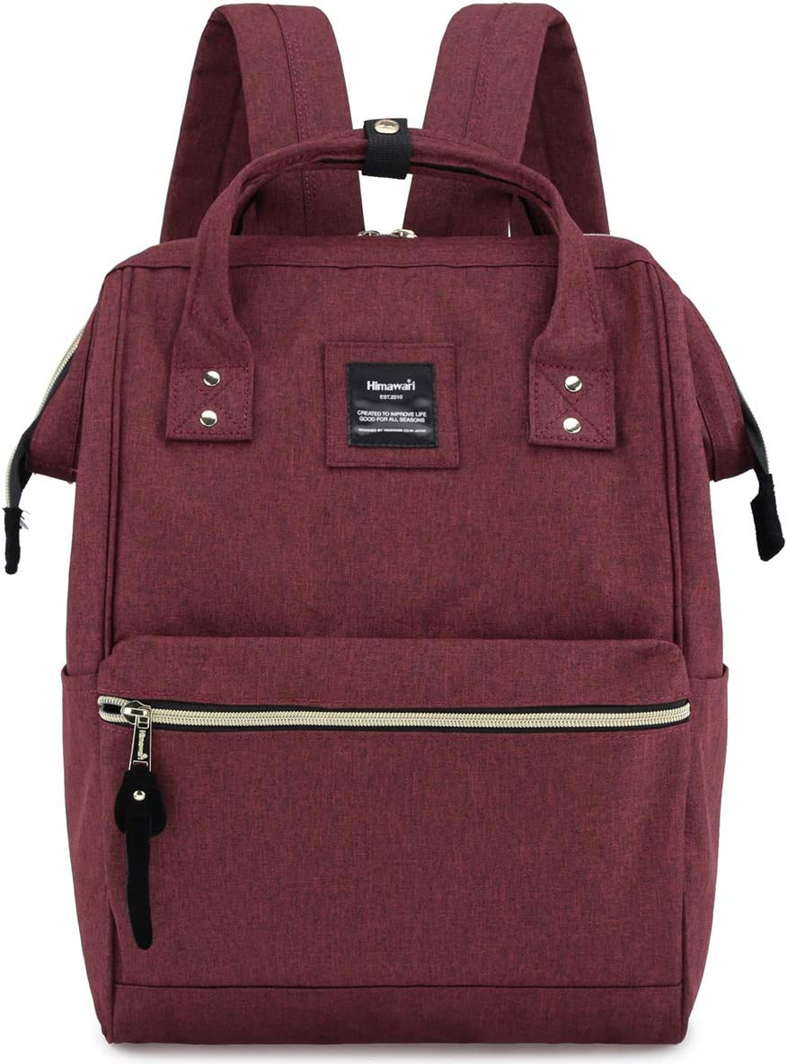 Himawari Travel School Backpack with USB Charging Port 15.6 Inch Doctor Work Bag for Women&Men College Students(H900d-LUSB-Wine red)