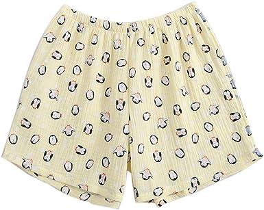 Pantalones cortos de pijama de algodón Loungewear para mujer Pantalones cortos de dormir para el verano - Penguin: Amazon.es: Ropa y accesorios