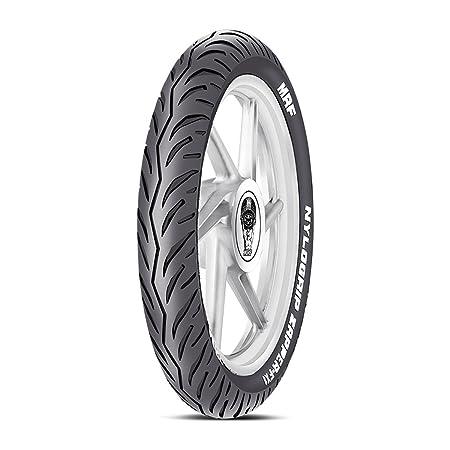 MRF Nylogrip Zapper-FX1 100/80-17 52P Tubeless Bike Tyre, Front