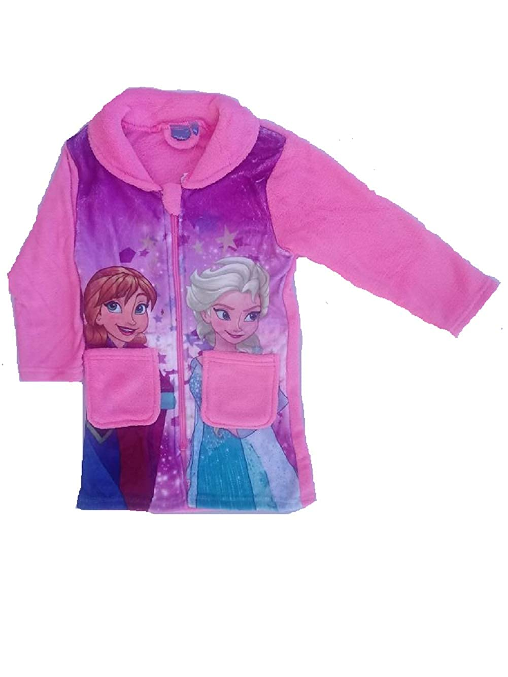 GladRags Girls Frozen Dressing Gown Size 3 4 5 6 7 8 Years Character Fleece Bathrobe