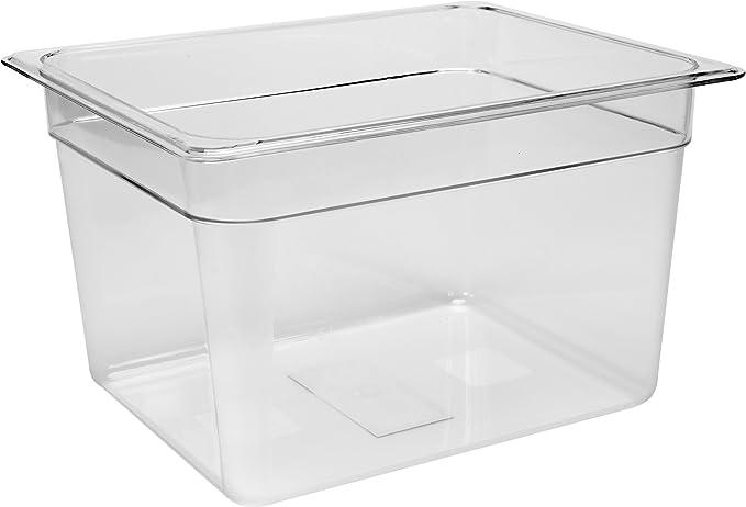 GN Gastronormbehälter 1//4 Polycarbonat Behälter 65 mm Kunststoff Plastik Neu