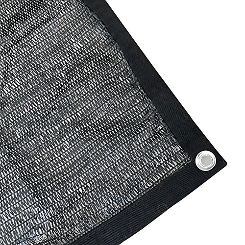 Agfabric 40% Sunblock Shade Cloth With Grommets 12x24ft Black for Plant Cover Greenhouse,Barn,Kennel, Pool, Pergola or Carport