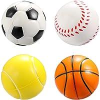 Tomaibaby 12 Stuks Schuim Sportballen Voetbal Basketbal Honkbal Tennisbal Indoor Buitensportballen Voor Peuters en…
