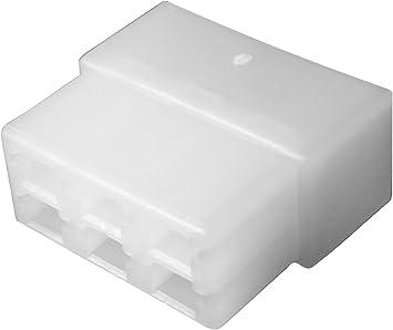 AERZETIX: 10x Conectores Caja de conexion 6 vias para terminales electricos Macho 6.3mm C11667: Amazon.es: Electrónica
