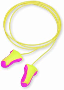Howard Leight by Honeywell Laser Lite High Visibility Corded Disposable Foam Earplugs, 5-Pair Vending Pack (LL-5-30)