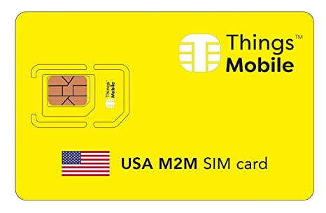 Amazon.com: Tarjeta SIM US M2M – Things Mobile – con ...