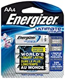 Energizer Ultimate Lithium Batteries Batteries AA, 4 Each (Health and Beauty)