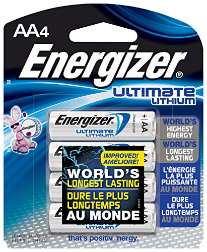 Energizer Ultimate Lithium Batteries Batteries AA, 4 Each