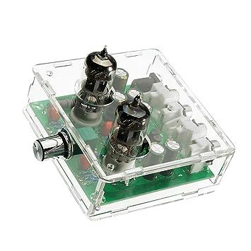 Sharplace Placa Valvula Preamplificador Preamplificadora Fuente de Alimentación 12V DC 6J1 Electrónica: Amazon.es: Electrónica