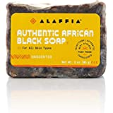 Alaffia - Authentic African Black Soap Bar, Handcrafted to Cleanse and Moisturize Skin with Unrefined Shea Butter and Palm Ke