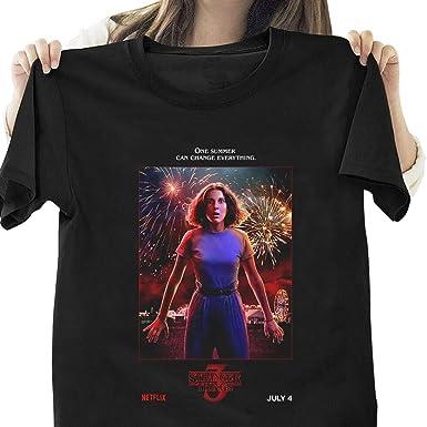 Camiseta Stranger Things Mujer, Camiseta Stranger Things Niña Impresión T-Shirt Camisetas de Manga Corta Chica Abecedario Impresión T-Shirt Regalo Camisa Verano Camisetas y Tops: Amazon.es: Ropa y accesorios