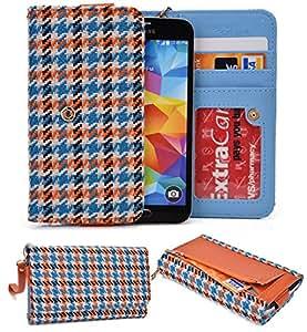 NuVur &153; ORANGE Multicolored Wallet Case/Woven Pattern/for Samsung G3812B Galaxy S3 Slim/CardSlots&Wristlet