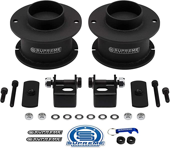 """Supreme Suspensions - Front Leveling Kit for Ram 2500 3500 4WD Front 3"""" Front Lift Kit High-Strength Steel Spring Spacers + Shock Mounts Relocation Brackets: Buy Online at Best Price in KSA - Souq is now Amazon.sa"""