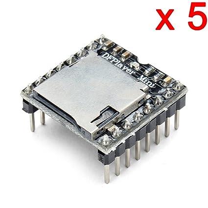DAOKI 5 PCS U Disk Mini MP3 DFPlayer Player Module Audio Voice Board Shield  For Arduino UNO