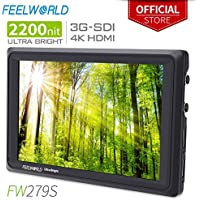 FEELWORLD FW279S 7 Inch Ultra Bright 2200nit DSLR Camera...