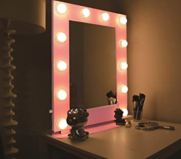Amazon hans alice hollywood mirror tabletops or wall mount hans alice hollywood mirror tabletops or wall mount lighted makeup mirror vanity mirror with led mozeypictures Gallery