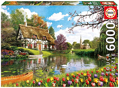 Educa Children's 6000 Lakeside Cottage At Spring Puzzle