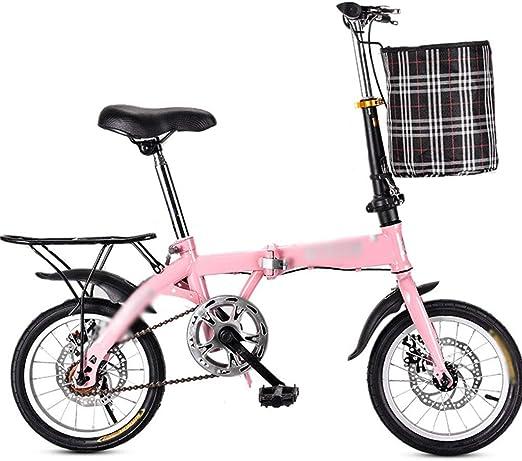 Wwrb Bicicleta Plegable para Adultos, De 20 Pulgadas Velocidad ...