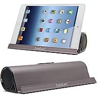 Lugulake Aluminum Portable Bluetooth 4.0 Speaker with Stand Dock, HiFi, 2 x 3Watts, Enhanced Bass-Coffee Color