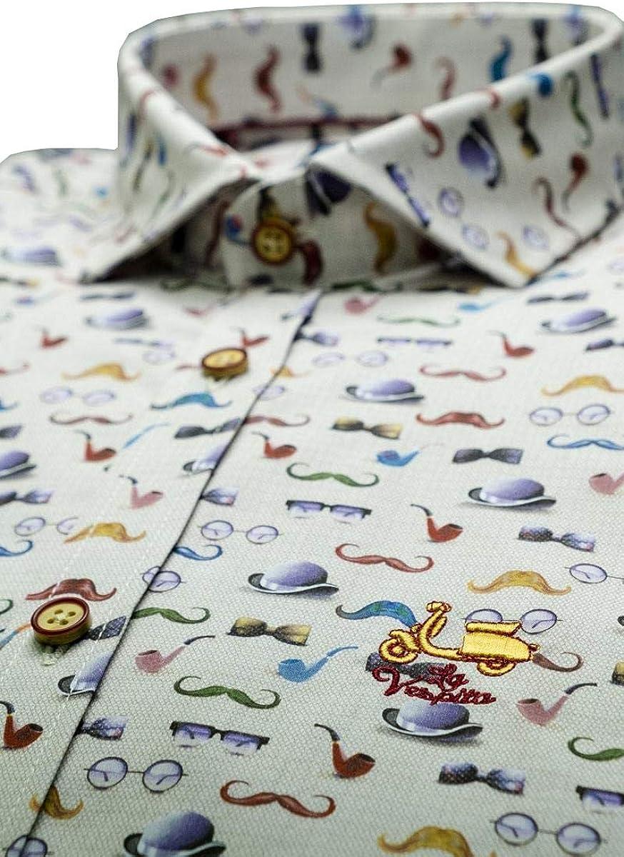 La Vespita Camisa con Varios Dibujos y Logo Vespa: Amazon.es: Ropa ...