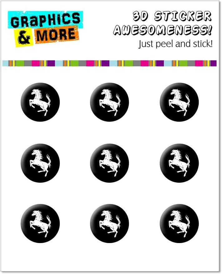 Graphics and More Horse Rearing Up White Black Home Button Stickers Fits Apple iPhone 4/4S/5/5C/5S, iPad, iPod Touch - Non-Retail Packaging - Clear