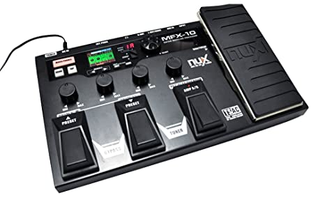 NUX MFX-10 Procesador de Efectos Pedales de Efectos de Guitarra Eléctrica 55 tipos 72