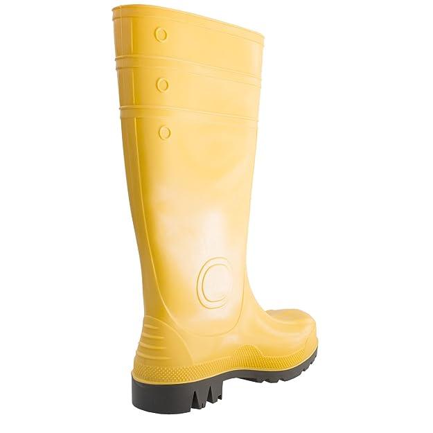 Stahlkappe rutschfest Erwachsene PVC-Sicherheitsstiefel S5-100/% wasserdicht Gummistiefel Gelb Stahlzwischensohle Charlie Barato/® Unisex
