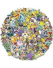 SZENEST Pokemon stickers 100 stuks schattige cartoon Pikachu stickers voor kinderen tieners waterdicht vinyl anime autostickers voor skateboards telefoon laptop motorfiets fietskoffer