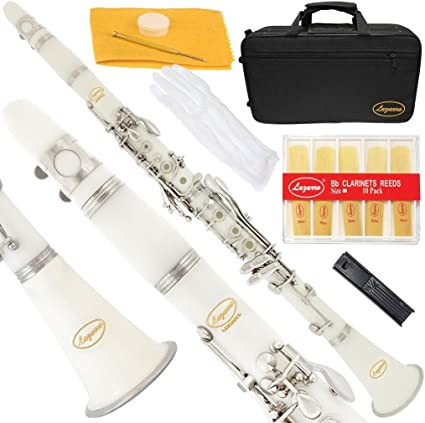 Lazarro - Clarinete en Si bemol Bb con funda, 11 lengüetas, kit de ...
