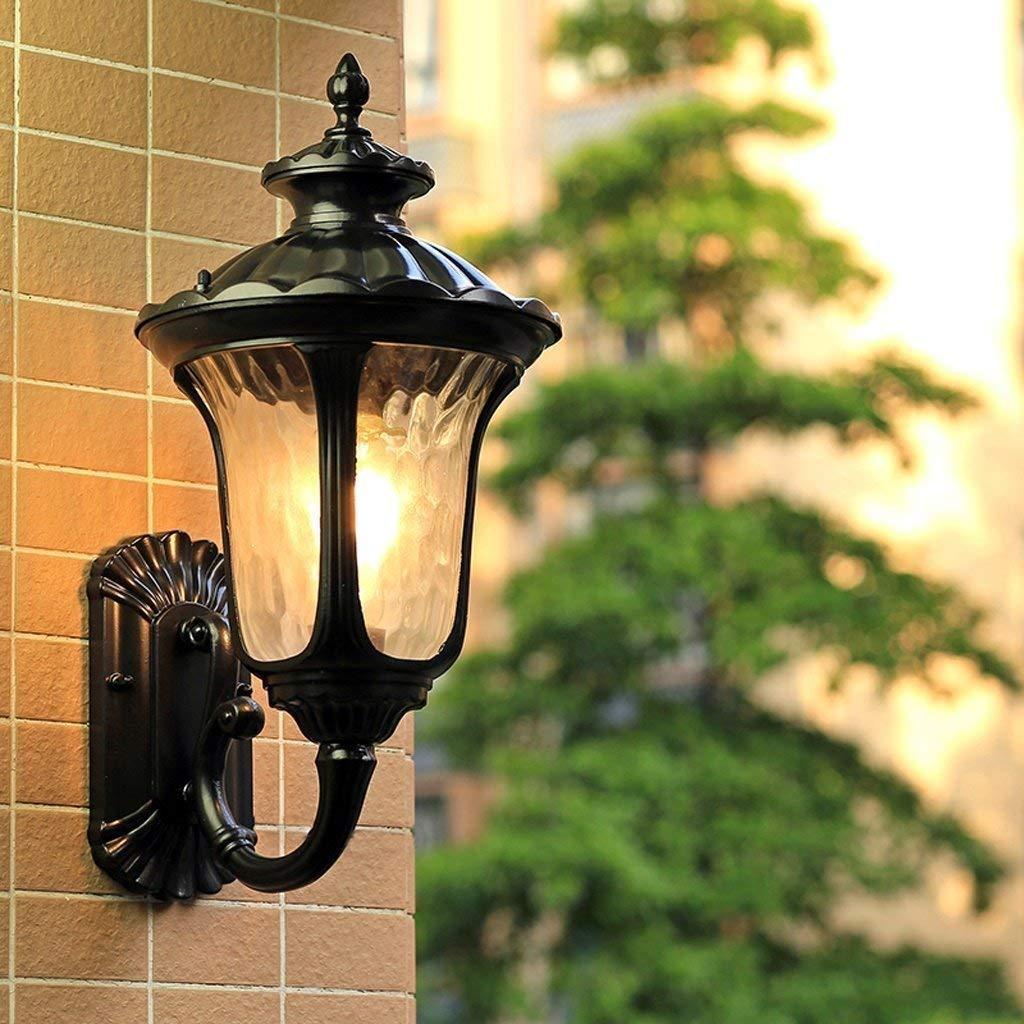 Wandleuchte,Outdoor wasserdicht Wandleuchte villa Garten Garten Balkon Wohnzimmer Flur Flur leuchten (Farbe  Bronze-M 23,5  49 cm)