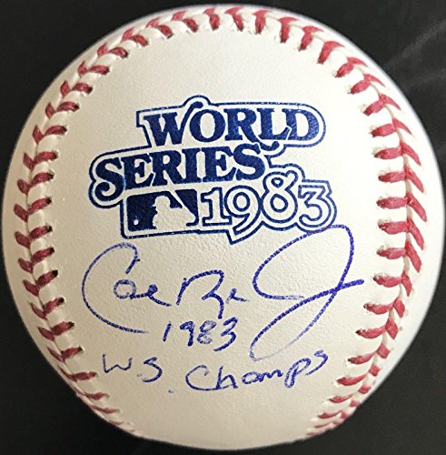 Cal Ripken Jr AUTO 1983 World Series Ball Inscribed