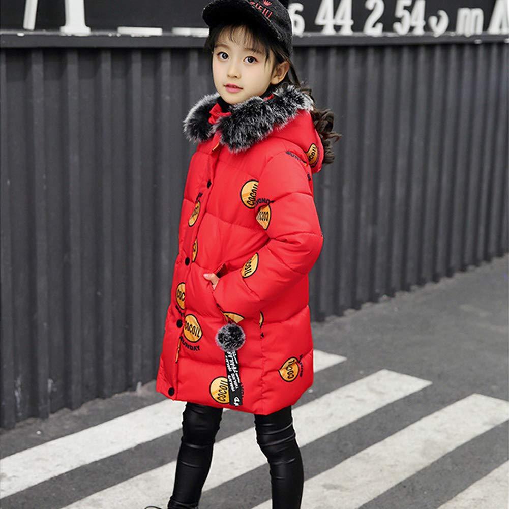 LSERVER Girls Winter Cotton Coat Jacket Parka Outwear Kids Thicken Jacket Outerwear