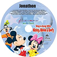"Children's Personalized SONGS WITH MY NAME - - SING ALONG WITH MICKEY, MINNIE & GOOFY - - Music CD and ""NEW"" Digital Content Is HERE! - - ""CUSTOMIZE WHEN ORDERING"""