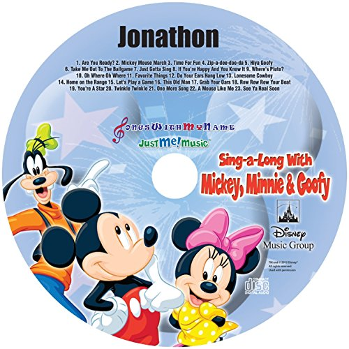 "Cd Personalized Music (Children's Personalized SONGS WITH MY NAME - - SING ALONG WITH MICKEY, MINNIE & GOOFY - - Music CD and ""NEW"" Digital Content Is HERE! - -"