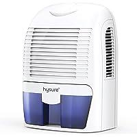 Hysure 1500ML Dehumidifier, Compact and Portable Electric Dehumidifiers Ultra Quiet Home Dehumidifier for Damp Air, Mold…