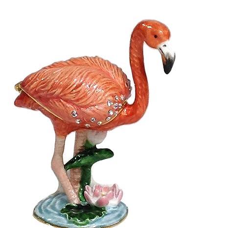 Amazon.com: Kubla Craft – Caja de joyería esmaltada – rosa ...
