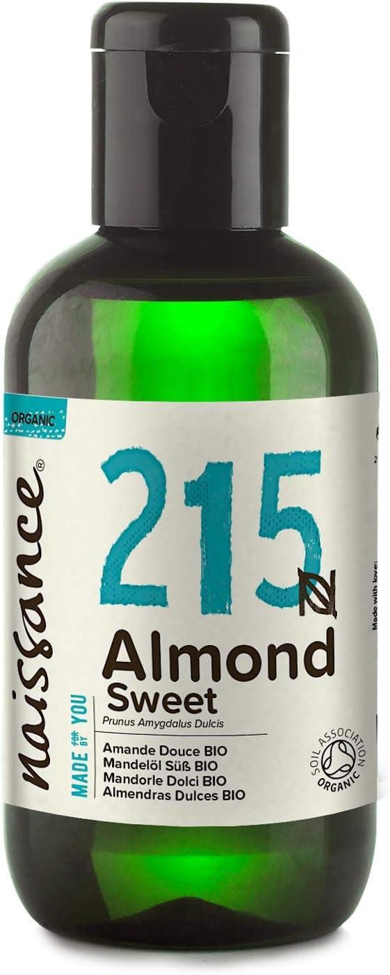 Naissance Aceite de Almendras Dulces BIO n. º 215 100ml - Puro, natural, certificado ecológico, prensado en frío, vegano, sin hexano, no OGM
