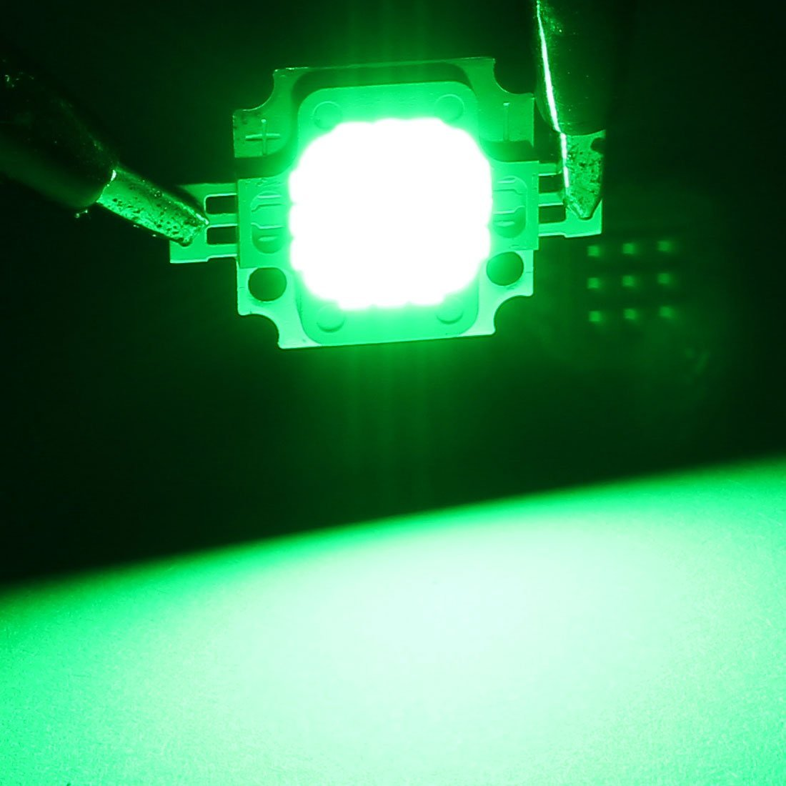 29mmx20mm eDealMax DC 27-30V 10W SMD LED verde viruta luz de inundación de grano de la lámpara - - Amazon.com