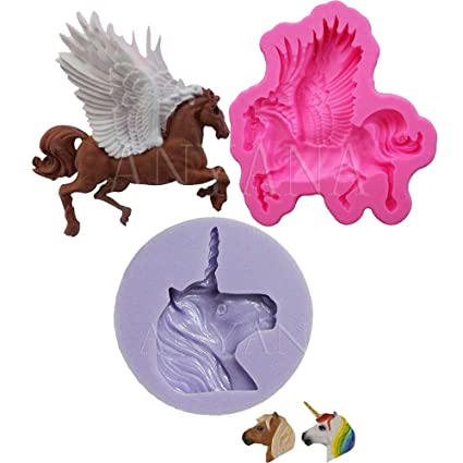 3D Carousel Horse Silicone Candle Mold Fimo Clay Soap Molds Fondant Cake Decorating Tools Cupcake Chocolate Baking Moulds Star Trade Inc 1 pcs