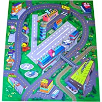 Silli Me Airport Felt Play Mat with Roads and Train Track Design