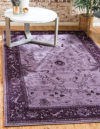 Unique Loom La Jolla Collection Purple 5 x 8 Area Rug (5' x 8')