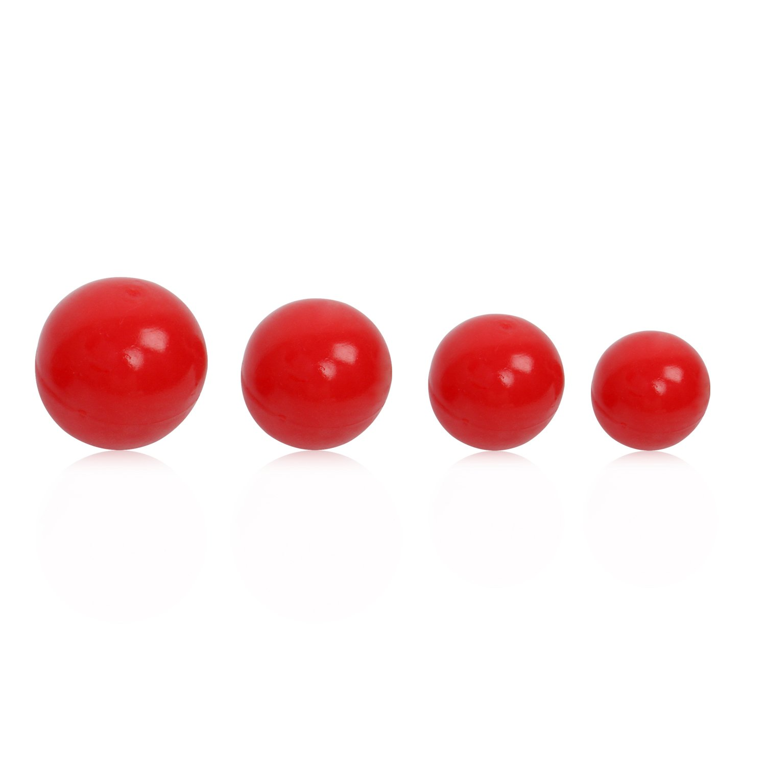 HBuir Dog Bouncy Ball Rubber Toy,Pack of 4(M/L/XL/XXL)