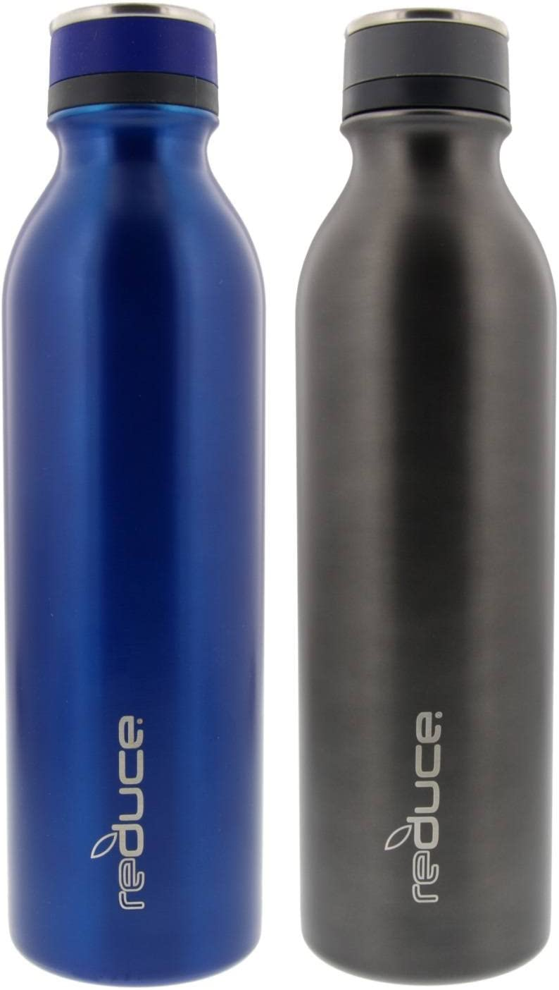 Reduce Cold-1 Stainless Steel Insulated Bottle - 2 Pack (BLUE/GRAY)