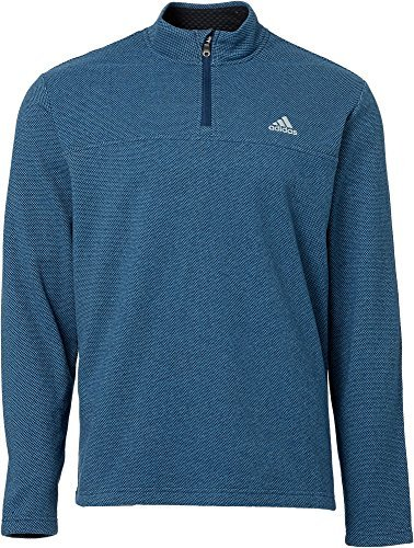 adidas Men's Advantage 1/4-Zip Golf Pullover - Ash Blue/Navy, M - Advantage Pullover
