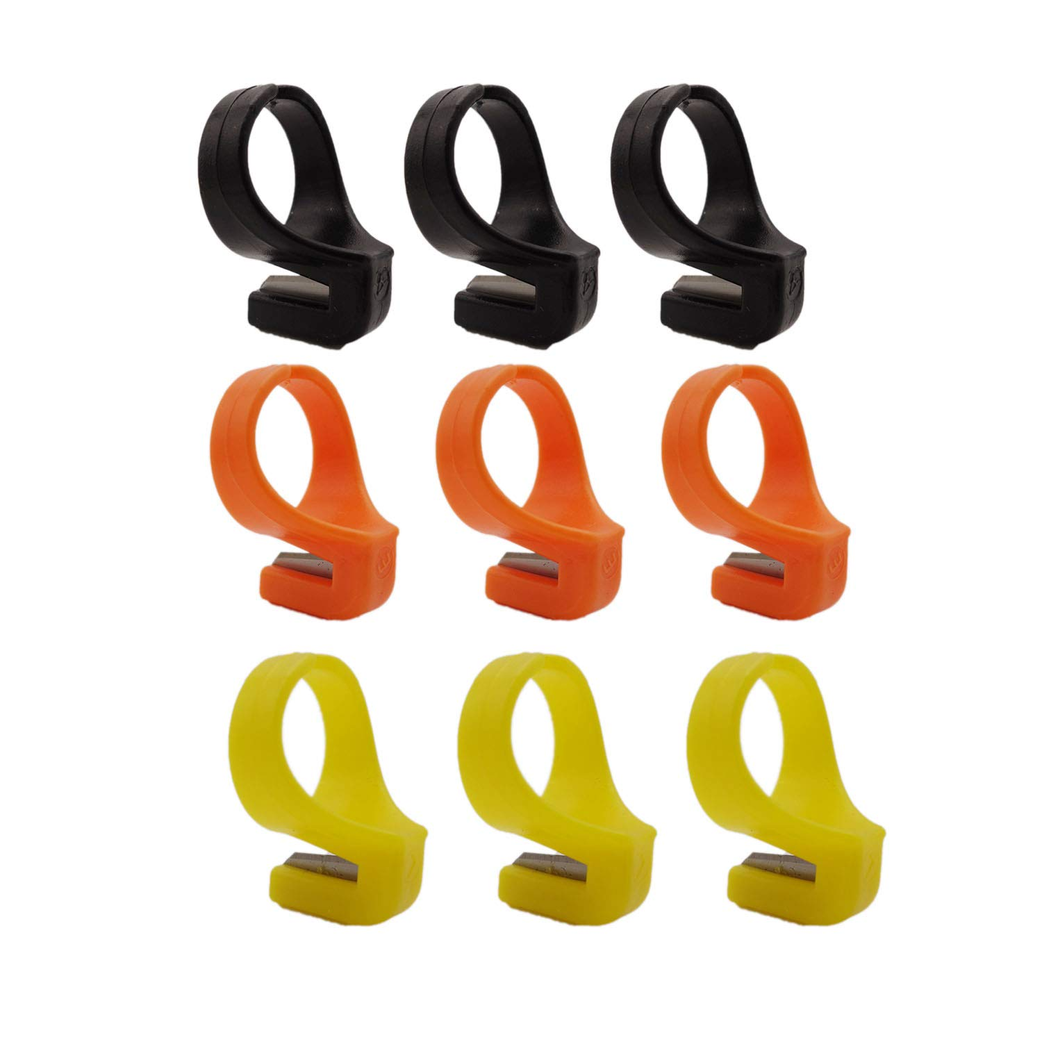 9 pcs Plastic Quilting Sewing Thread Cutter Ring Line Finger Cutting Tool for Yarn, Thread - Random Color