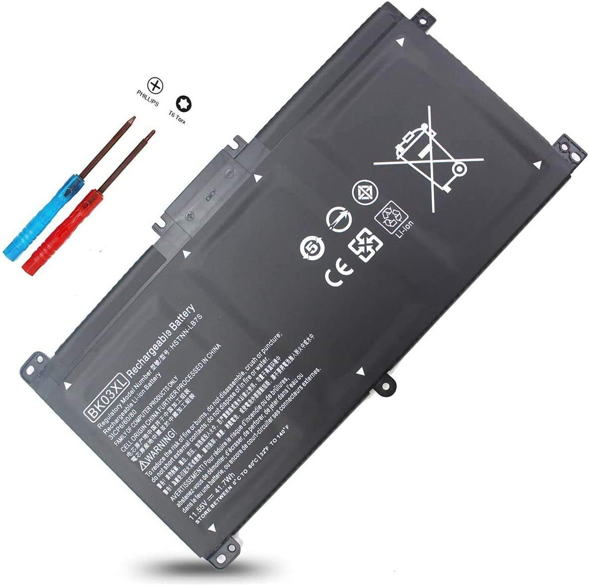 BK03XL TPN-W125 Battery for Hp Pavilion X360 14m-ba0xx 14m-ba013dx 14m-ba011dx 14m-ba1xx 14m-ba114dx 14-ba175nr 14-ba253cl 14-ba125cl 14-ba051cl 916811-855 916812-855 916366-421 541HSTNN-LB7S UB7G