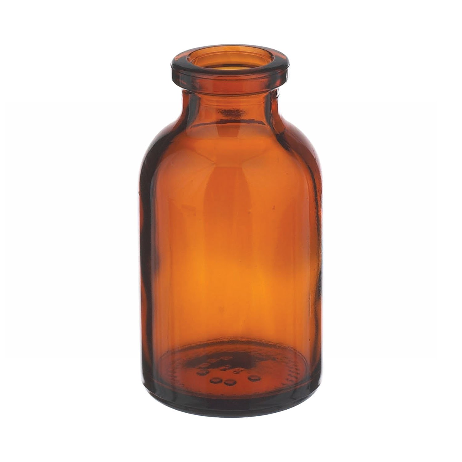 Wheaton 223761 Serum Bottle 10mL, Amber Borosilicate Glass, Mouth Dimensions: 13mm ID x 20mm OD, Bottle Dimensions: 25mm Diameter x 54mm Height (Case of 288)